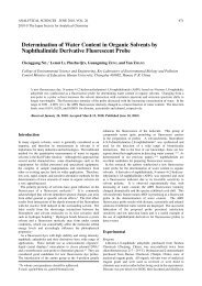 Determination of Water Content in Organic Solvents by ...