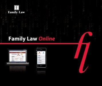 the Family Law Online PDF brochure - Jordan Publishing
