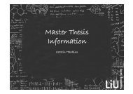 Master Thesis Information