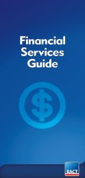 Financial Services Guide - RACT