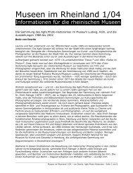 Die Sammlung des Agfa Photo-Historamas im Museum