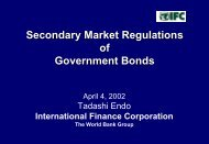 Secondary Market Regulations of Government Bonds - World Bank