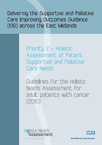 Holistic Needs Assessment Template  East Midlands Cancer Network