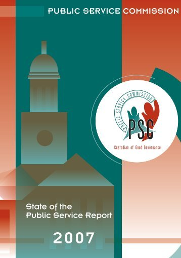 State of the Public Service Report - South Africa Government Online