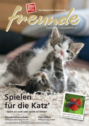 Freunde Magazin Winter 2013 S. 01 - Alles-Fuer-Tiere