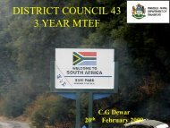 DOT - KZN Development Planning