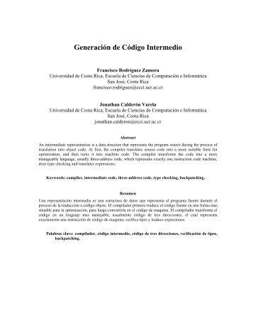 Generación de Código Intermedio - Di-Mare.com