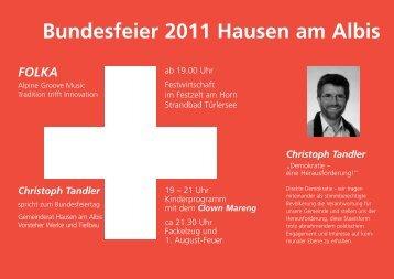 Bundesfeier 2011 Hausen am Albis - Kultur im Dorf