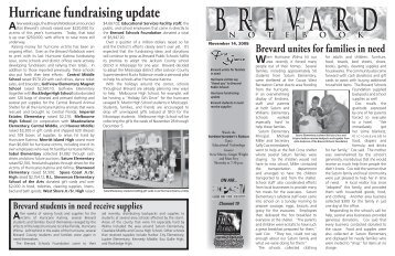 NOV 14, 2005 - Office of District Communications - Brevard Public ...