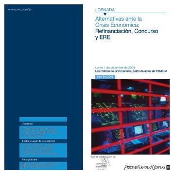 Alternativas ante la Crisis Económica: Refinanciación ... - pwc