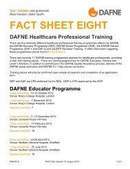 FACT SHEET EIGHT - Dafne