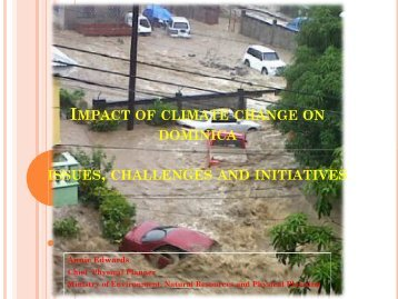 impact of climate change on dominica issues, challenges and ...