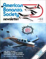 April 1985 - American Bonanza Society