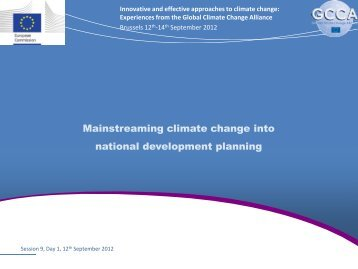 Mainstreaming climate change into national development planning