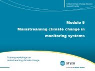 Module 9 Mainstreaming climate change in monitoring systems ...