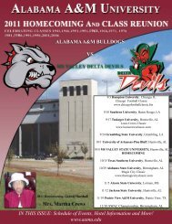 Schedule of Events, Hotel Information and More! - Alabama A&M ...