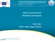 Global Learning Event: objectives and agenda - Global Climate ...