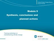 Module 9 Synthesis, conclusions and planned actions