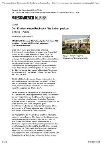Den Kindern einen Rucksack fürs Leben packen (PDF) - AD novum