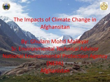 Impacts of climate change in Afghanistan
