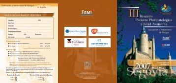 III Reunión PPP y EA - Sociedad Española de Medicina Interna