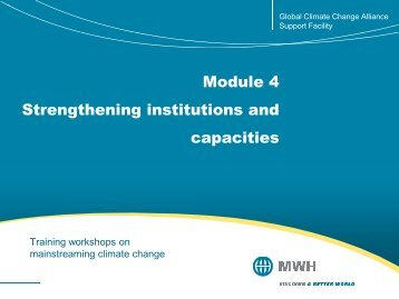 Module 4 Strengthening institutions and capacities - Global Climate ...
