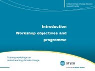 Introduction Workshop objectives and programme - Global Climate ...