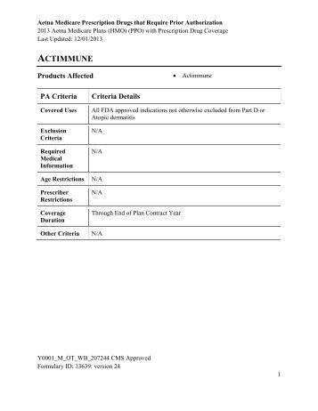 Aetna Medicare Prior Authorization Form Aetna Medicare Prior ...
