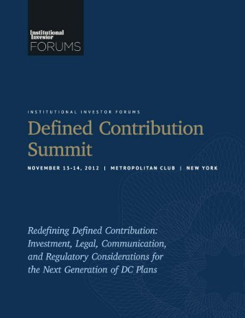 Institutional Investor Forums – Defined Contribution Summit ...