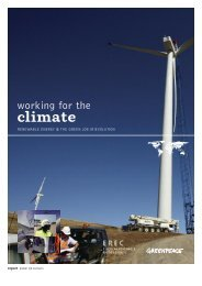 Working for the climate - Greenpeace