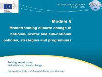 slides - Global Climate Change Alliance