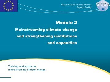 Module 2 - Global Climate Change Alliance