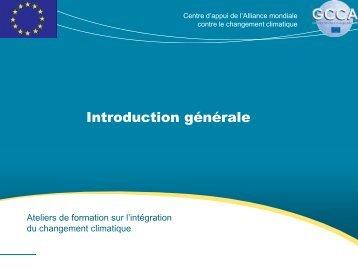 Introduction générale - Global Climate Change Alliance