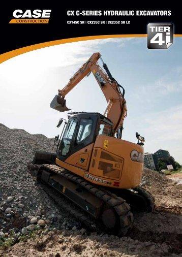 cx c-series hydraulic excavators - Case Construction Equipment ...