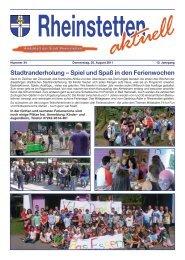 Spiel und Spaß in den Ferienwochen - Stadt Rheinstetten