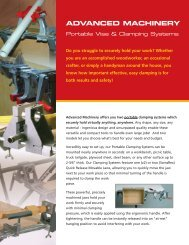 your Portable Clamping Systems Brochure - Advanced Machinery