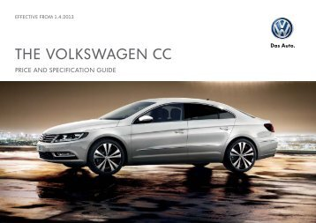 Price List - Peter Cooper Volkswagen