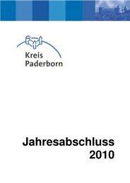 Jahresabschluss 2010 - Kreis Paderborn