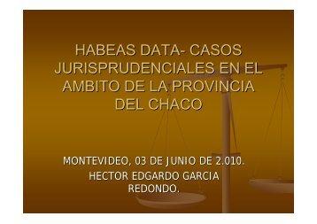 Héctor E. García. Juez Civil y Comercial. Poder Judicial de la ...