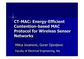 MAC Protocol for Wireless Sensor Networks
