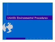 USAID Environmental Procedures - USAID: Africa Bureau: Office of ...