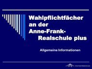 Wahlpflichtfächer an der Anne-Frank-Realschule plus Klasse 5