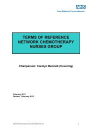 Terms of Reference - East Midlands Cancer Network