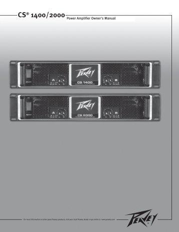 CS® 1400/2000 - Peavey.com