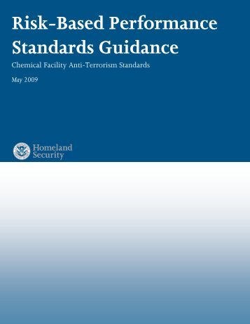 Risk-Based Performance Standards Guidance - Homeland Security