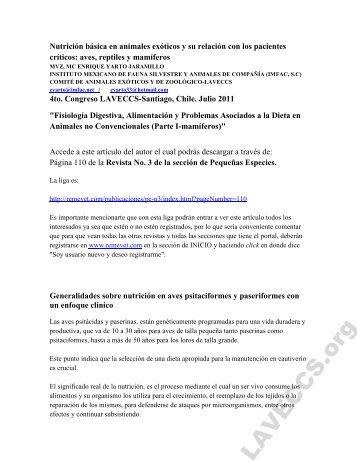 Nutricion basica en animales exoticos.pdf - Laveccs