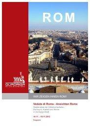 Vedute die Roma - Ansichten Roms - Quadriga-Studienreisen