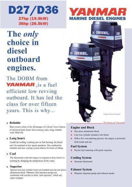 Yanmar Marine Outboard Diesel Engines Datasheet