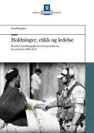 Holdninger Etikk og ledelse i Forsvarssektoren - Regjeringen.no