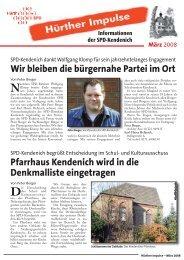 Hürther Impulse Kendenich 2008-03.indd - SPD Ortsverein Hürth